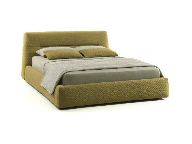 Upholstered fabric bed double bed SLOPE by Papadatos