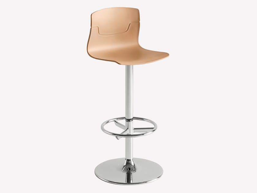 Swivel technopolymer stool with back SLOT FILL AFV by GABER