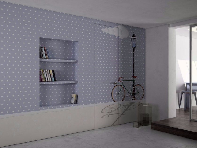 Dotted washable vinyl wallpaper SLOW DOWN by GLAMORA