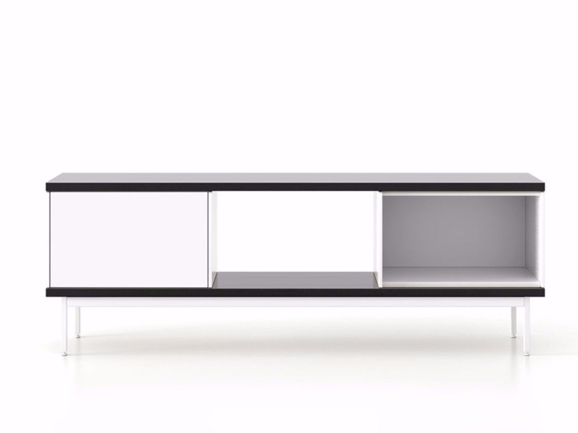 Lacquered wooden sideboard with doors SLT012 | Lacquered sideboard by Punt