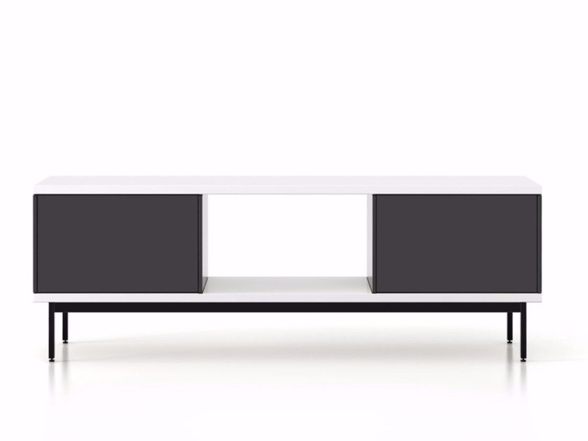 Lacquered wooden sideboard with doors SLT013 | Sideboard with doors by Punt