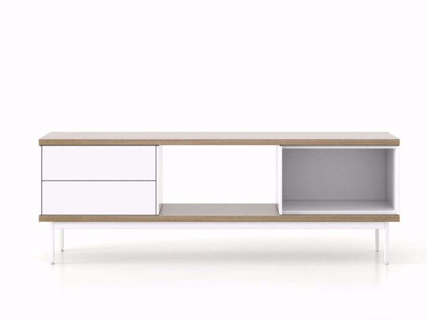 Lacquered wooden sideboard with drawers SLT014 | Sideboard with drawers by Punt