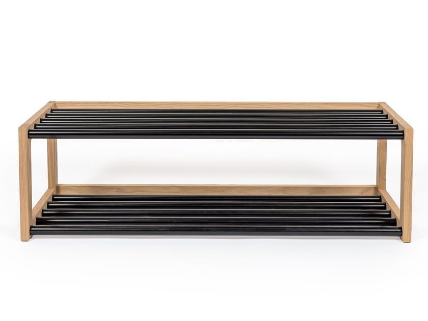Steel and wood shoe cabinet SLUSSEN | Shoe cabinet by Woodman