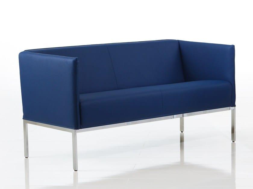 Leather small sofa RANDOLPH | Small sofa by brühl