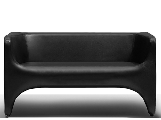 Leather small sofa NU | Small sofa by Felicerossi