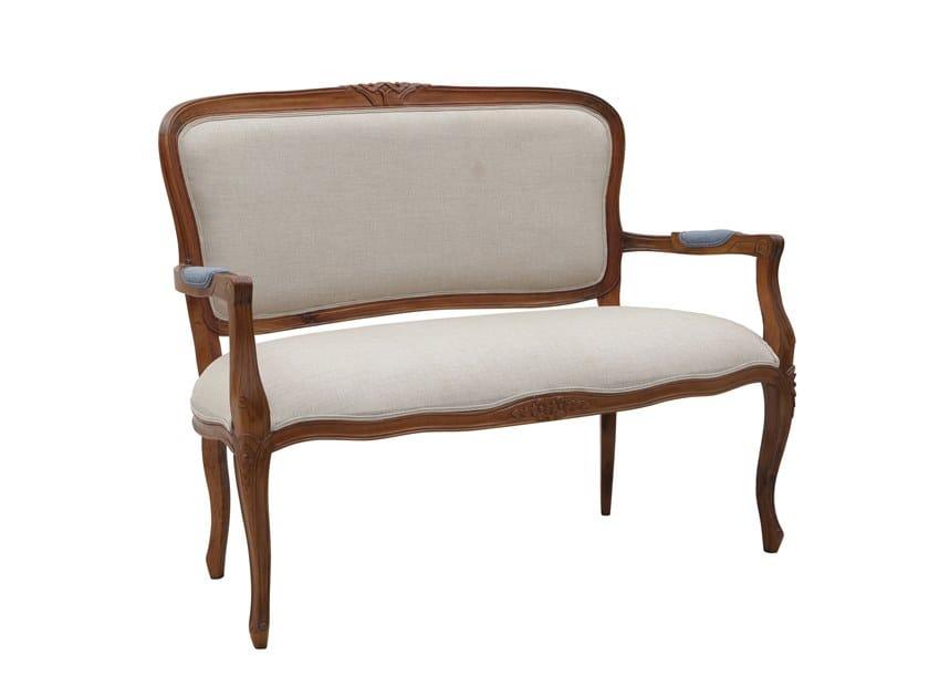 Small sofa MOZAIC - WALNUT | Small sofa by Il Giardino di Legno