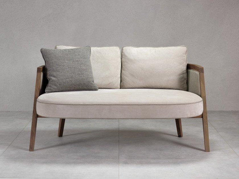 Contemporary style fabric small sofa COCOON | Small sofa by Pacini & Cappellini