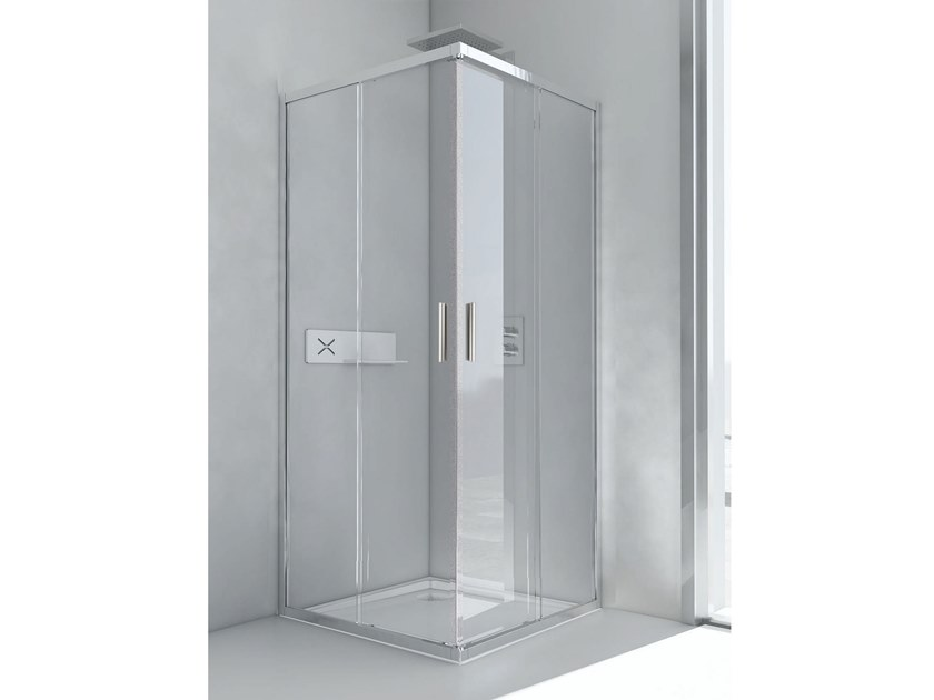 Corner shower cabin with tray SMART A+A by RELAX