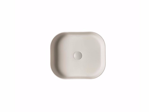 Countertop rectangular ceramic washbasin SMART B - 38x45 cm by GALASSIA