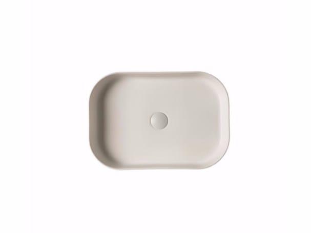 Countertop rectangular ceramic washbasin SMART B - 38x55 cm by GALASSIA
