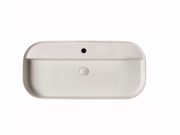 Countertop rectangular ceramic washbasin SMART B - 45x95 cm by GALASSIA