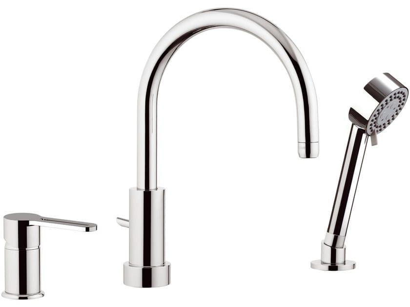 3 hole bathtub set with hand shower SMART | Bathtub set by Daniel Rubinetterie