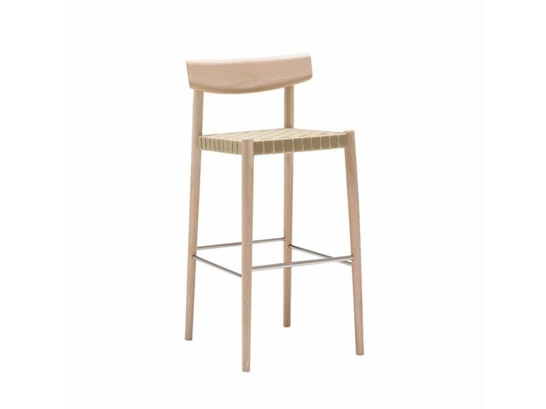 High beech stool with back SMART BQ0644 / BQ0658 by Andreu World