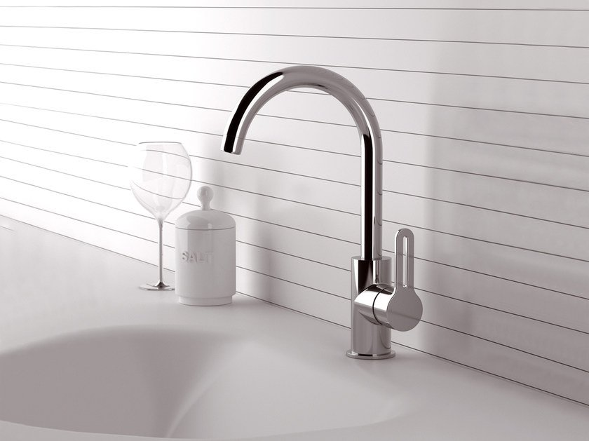 Countertop kitchen mixer tap with swivel spout SMART | Countertop kitchen mixer tap by Daniel Rubinetterie