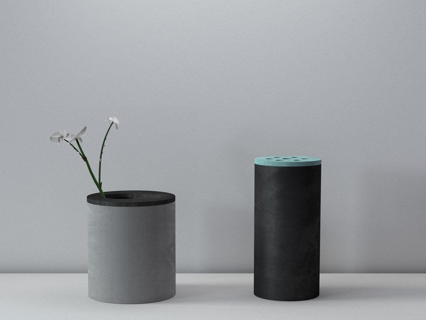 Cement vase SMART by Forma&Cemento