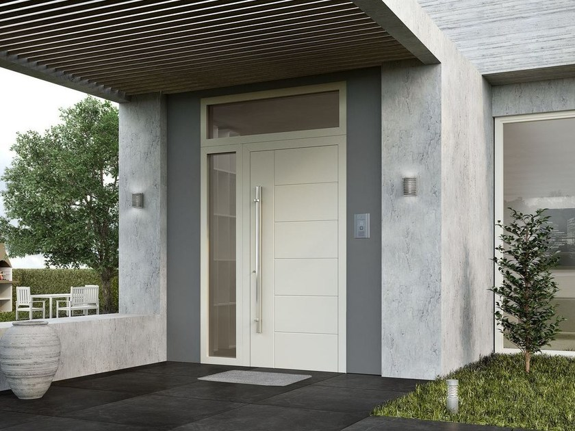 Porta d'ingresso blindata con pannelli in vetro SMART L by Interno Doors