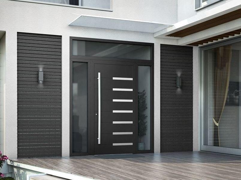 Porta d'ingresso blindata in legno con pannelli in vetro SMART I by Interno Doors