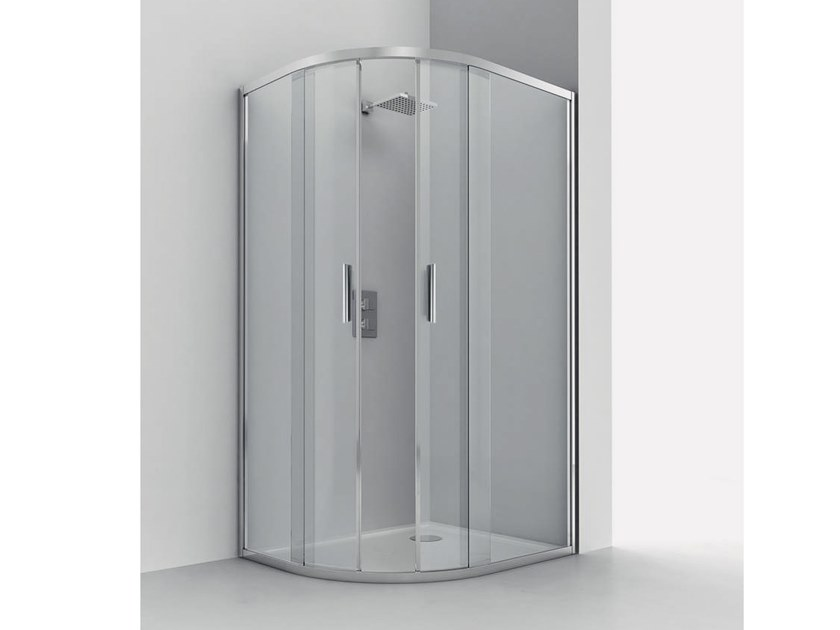 Semicircular shower cabin SMART RA-S by RELAX