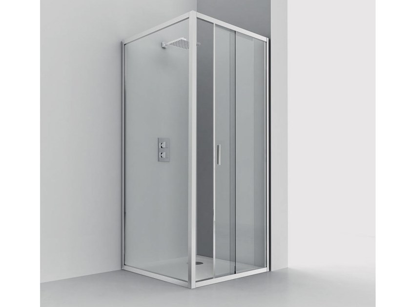 Corner shower cabin SMART SC1+F4 by RELAX