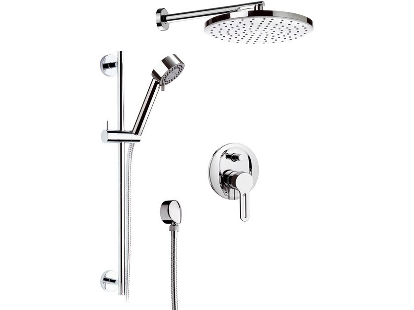 Chromed brass shower wallbar with hand shower SMART | Shower wallbar with hand shower by Daniel Rubinetterie