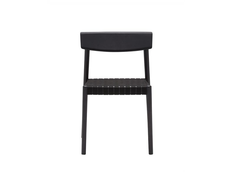 Stackable open back beech chair SMART SI0612 by Andreu World