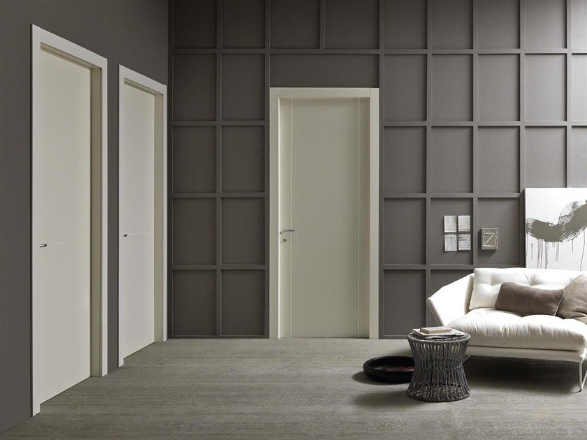 Hinged lacquered door SMASH by Door 2000