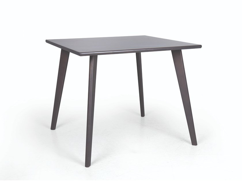 Square wooden dining table SMILE 01 QUAD by Fenabel