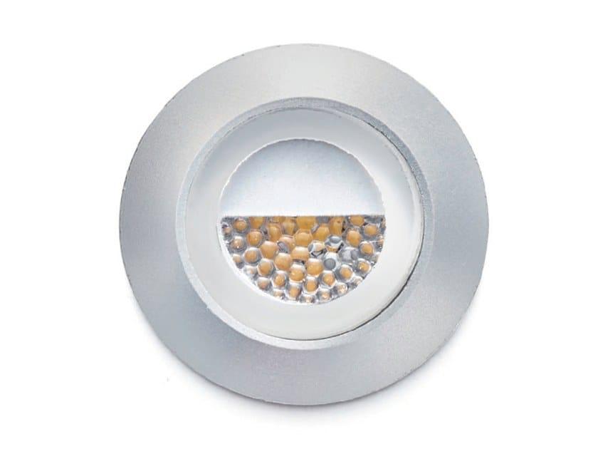 Segnapasso a LED a parete in alluminio anodizzato SMILE by Francesconi & C.