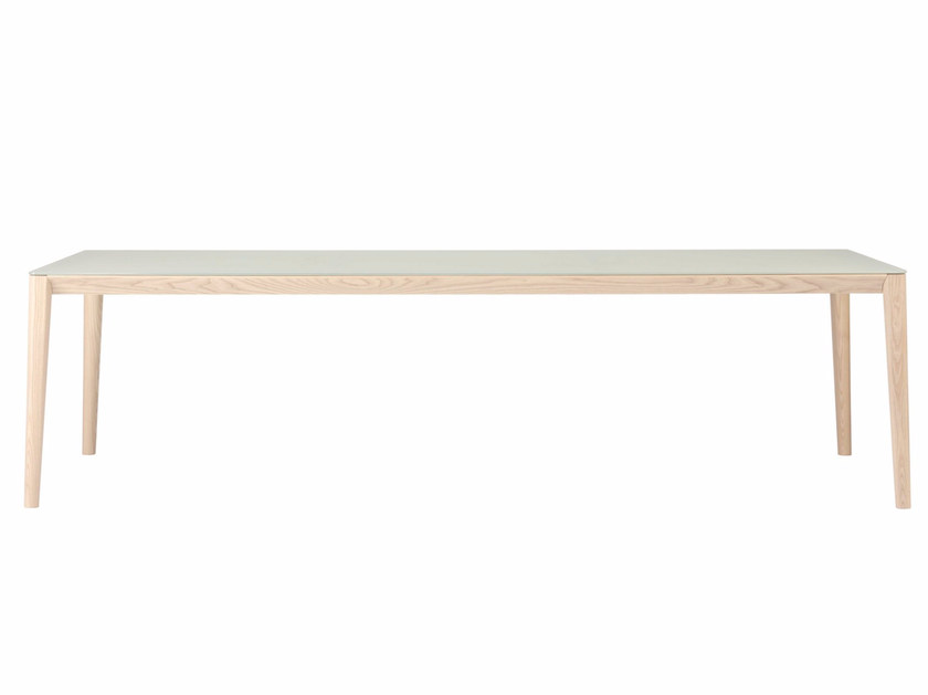 Tavolo rettangolare in legno e vetro SMITH | Tavolo in legno e vetro by SP01
