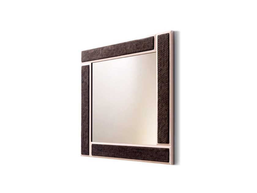 Square framed wall-mounted mirror SNAKE - 750101 | Square mirror by Grilli