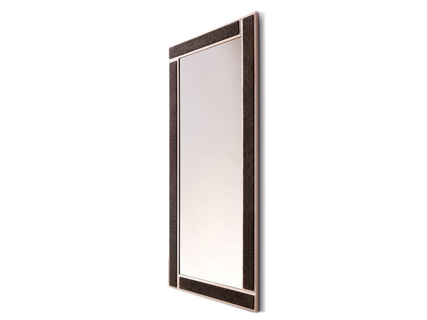 Rectangular framed wall-mounted mirror SNAKE - 750102 | Rectangular mirror by Grilli