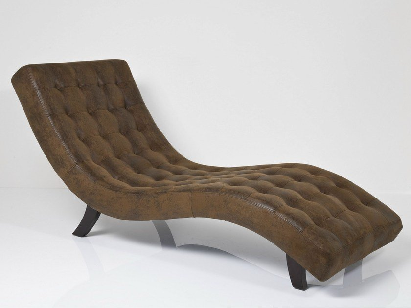 Tufted Upholstered Lounge Chair SNAKE VINTAGE ECO By KARE DESIGN