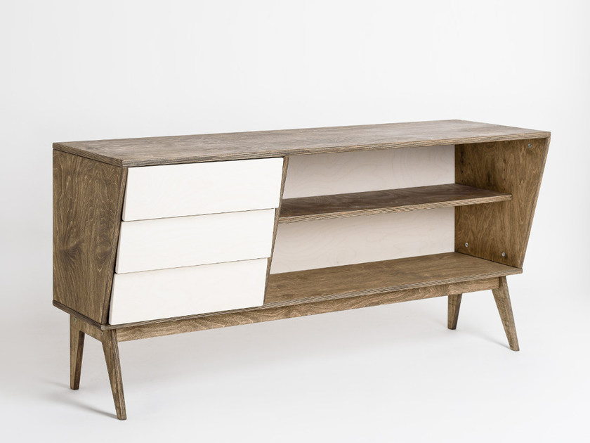Plywood writing desk / sideboard SNEL by Radis