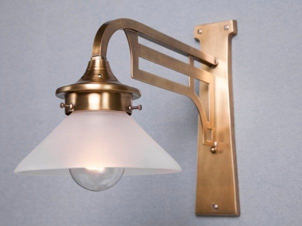 Direct light handmade brass wall lamp SNOOKER I | Wall lamp by Patinas Lighting