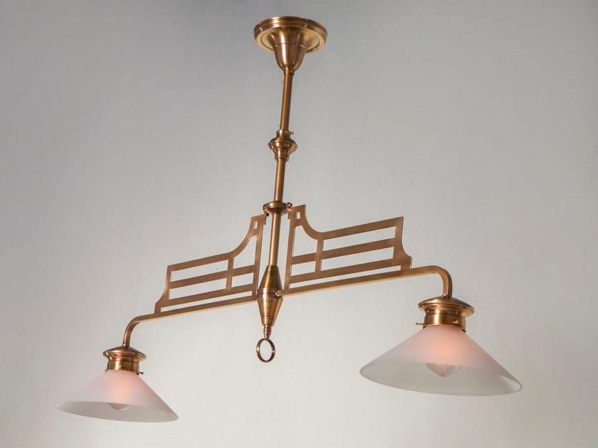 Direct light handmade brass pendant lamp SNOOKER | Pendant lamp by Patinas Lighting