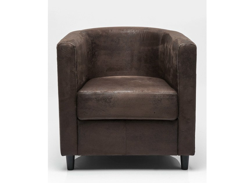 Fabric armchair with armrests SNUG AFRICA by KARE-DESIGN