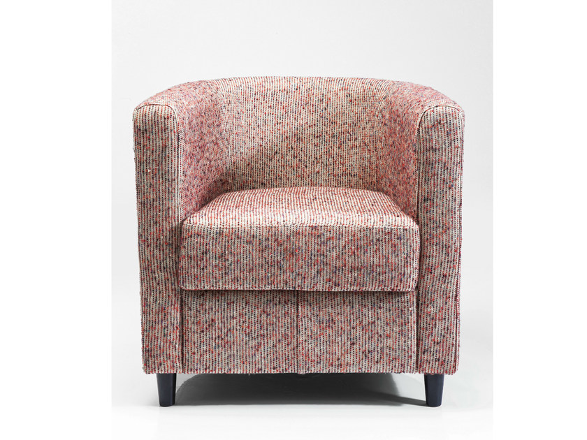 Fabric armchair with armrests SNUG DOT by KARE-DESIGN