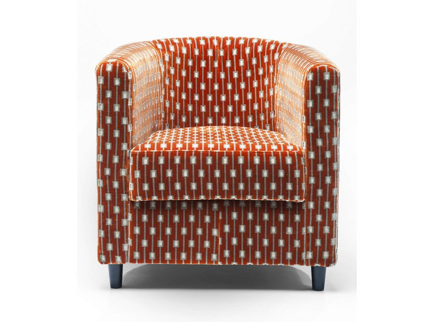 Fabric armchair with armrests SNUG SQUARE by KARE-DESIGN