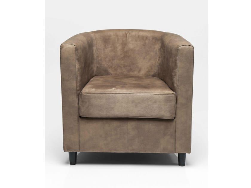 Fabric armchair with armrests SNUG TONKA by KARE-DESIGN