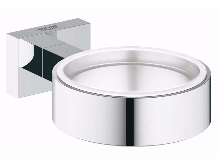 Wall-mounted soap dish ESSENTIALS CUBE | Soap dish by Grohe