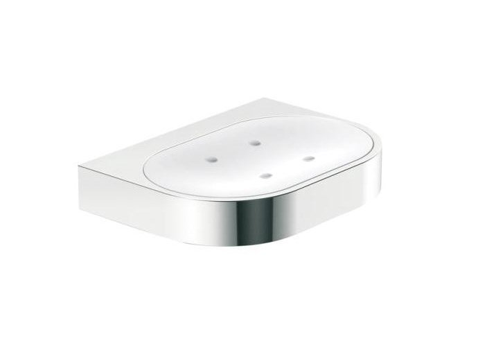 Wall-mounted glass soap dish SYSTEM 800 | Soap dish by HEWI