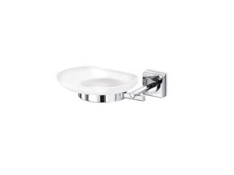 Wall-mounted satin glass soap dish QUADRO | Soap dish by INDA®