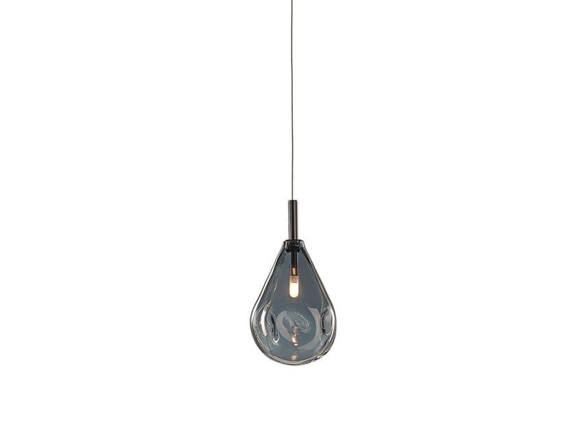 Lampada a sospensione a LED in vetro soffiato con dimmer SOAP MINI by bomma