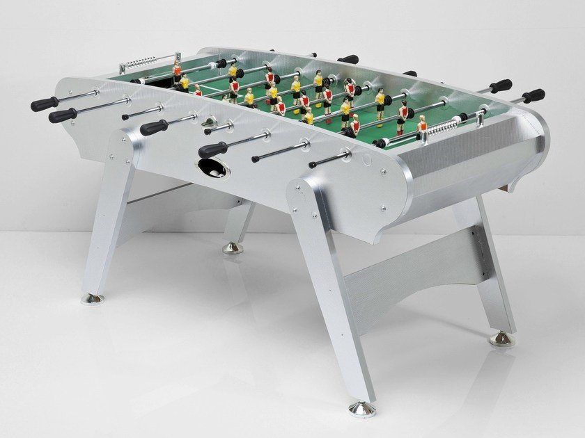 Rectangular MDF football table SOCCER BOYS SILVER/COULURED by KARE-DESIGN