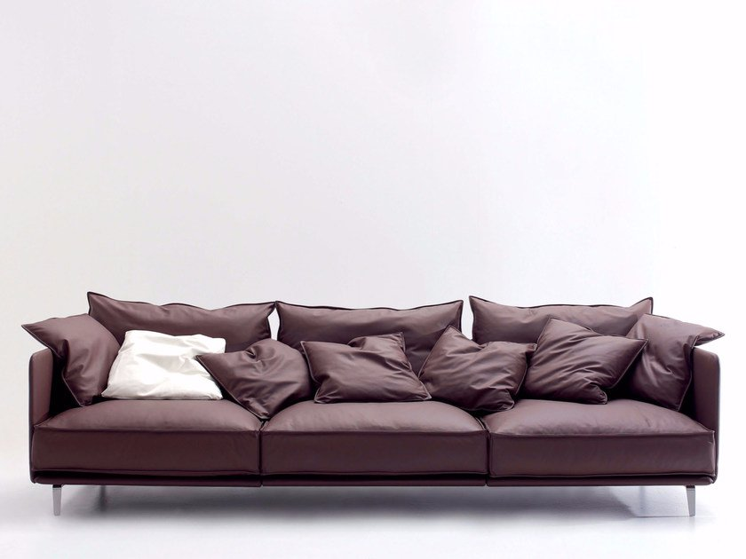 Upholstered leather sofa K2 | Sofa by arflex