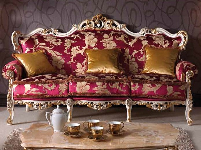 Upholstered 3 seater sofa BAROQUE | Sofa by Arvestyle