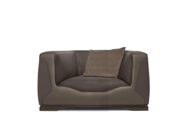 Upholstered leather armchair with armrests V133 | Armchair by Aston Martin