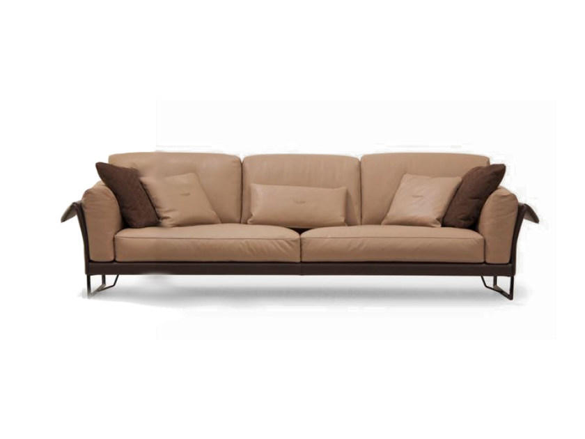 Upholstered 3 seater leather sofa V099   Sofa by Aston Martin