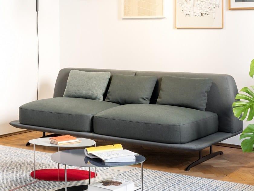 Sled base 2 seater fabric sofa TRAYS | Sofa by BALERI ITALIA