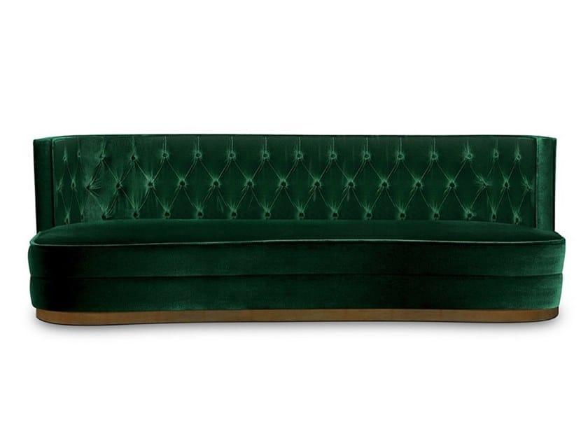 Tufted velvet sofa BOURBON | Sofa by BRABBU